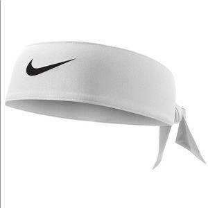 Nike Women's Gym Athletic White Black Tie Headband